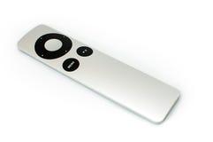 在白色背景隔绝的第二代苹果计算机遥控 图库摄影