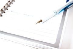 在白色背景隔绝的简单的精装书 图库摄影