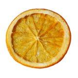 在白色背景隔绝的糖煮的橙色切片 库存图片