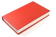 在白色背景隔绝的红色书 免版税库存图片