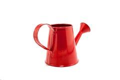 在白色背景隔绝的红色喷壶 免版税库存图片