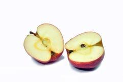 被隔绝的红色苹果 免版税库存图片