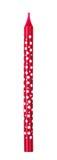 在白色背景隔绝的红色蜡烛圆点 免版税库存图片