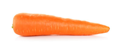 在白色背景隔绝的红萝卜 图库摄影