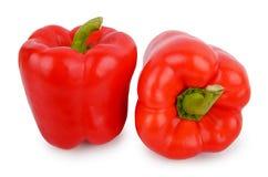 在白色背景隔绝的红辣椒 免版税库存照片