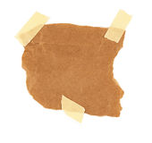 在白色背景隔绝的纸板片断 库存图片