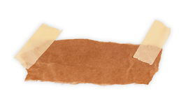 在白色背景隔绝的纸板片断 免版税库存图片