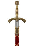 在白色背景隔绝的美丽的剑 免版税图库摄影