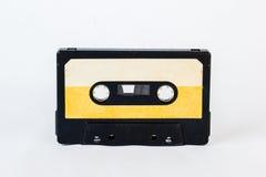 在白色背景隔绝的老卡型盒式录音机 历史reco 免版税图库摄影