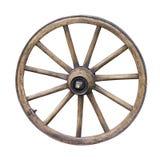 老木轮子 免版税库存照片