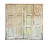 在白色背景隔绝的老木门 库存图片