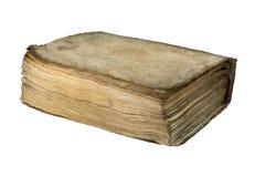 在白色背景隔绝的老精装书 免版税图库摄影
