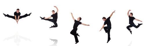 在白色背景隔绝的舞蹈家 免版税库存图片