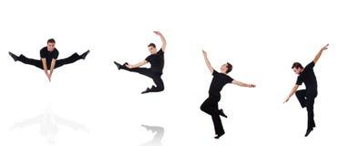 在白色背景隔绝的舞蹈家 免版税库存照片