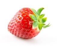 在白色背景隔绝的草莓莓果 图库摄影
