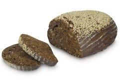 在白色背景隔绝的荞麦面包 免版税库存图片