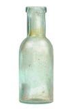 在白色背景隔绝的葡萄酒玻璃瓶 免版税库存照片
