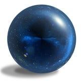 在白色背景隔绝的蓝色光滑的球形 库存图片