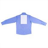 在白色背景隔绝的蓝色衬衣 免版税库存照片