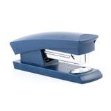 在白色背景隔绝的蓝色订书机 免版税库存图片