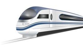 在白色背景隔绝的超级效率化的高速火车 库存例证
