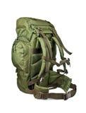 在白色背景隔绝的远征军用背包 免版税库存图片