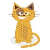 在白色背景隔绝的逗人喜爱的动画片猫 皇族释放例证