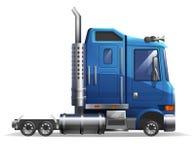 在白色背景隔绝的逗人喜爱的风格化大卡车 库存例证