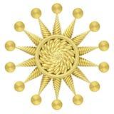 在白色背景隔绝的金黄星标志 免版税图库摄影