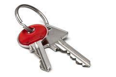 在白色背景隔绝的钥匙 免版税库存照片
