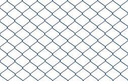 在白色背景隔绝的铁丝网 免版税图库摄影