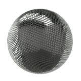 在白色背景隔绝的银色光亮的迪斯科球 免版税图库摄影