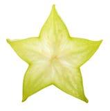 在白色背景隔绝的阳桃starfruit 库存照片
