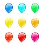 在白色背景隔绝的集合五颜六色的气球(1) 免版税图库摄影