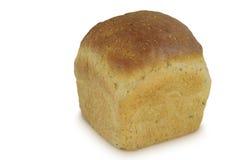 在白色背景隔绝的面包砖 免版税图库摄影