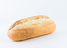 在白色背景隔绝的面包 图库摄影