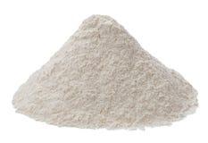 在白色背景隔绝的面粉 库存图片