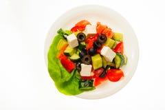 在白色背景隔绝的食物 免版税图库摄影
