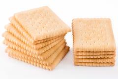 在白色背景隔绝的饼干 免版税库存照片