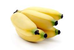 在白色背景隔绝的香蕉 库存照片