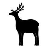 在白色背景隔绝的驯鹿 库存照片
