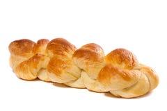 在白色背景隔绝的鲜美家制面包 库存照片