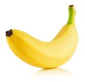 在白色背景隔绝的鲜美香蕉 免版税图库摄影