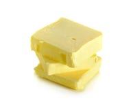 在白色背景隔绝的黄油 免版税库存图片
