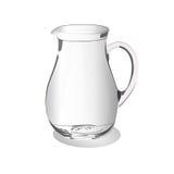 在白色背景隔绝的玻璃水罐,传染媒介例证 库存图片