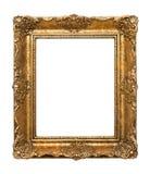 在白色背景隔绝的绘画的木古色古香的框架 库存照片