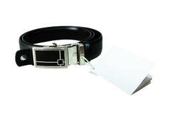 黑皮带 库存照片