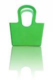 绿色塑料篮子 免版税库存图片