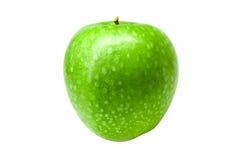 在白色背景隔绝的绿色新鲜的苹果 库存照片