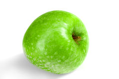 在白色背景隔绝的绿色新鲜的苹果 免版税库存图片